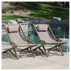 Nikki Set of 2 Wood and Canvas Sling Chair - Christopher Knight Home - image 4 of 4