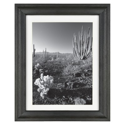 "7"" x 9"" matted to 5"" x 7"" Basic Foundational Frame Black - Threshold™"