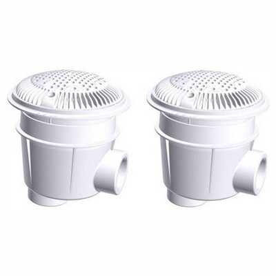 Hayward WG1053AVPAK2 1.50 Inch Dual Suction Outlet for Concrete or Gunite In Ground Outdoor Swimming Pools for Easy Cleaning and Maintenance, White