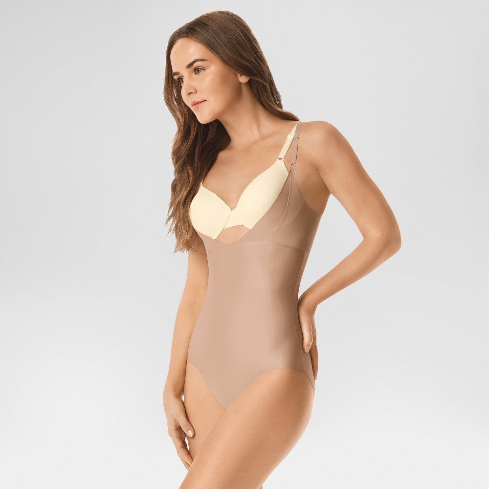 Women's Simply Perfect by Warner's Wyob Shaping Body Suit - Toasted Almond XL