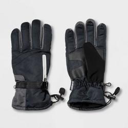 Men's Ski Glove with Reflective Zipper Pocket - C9 Champion® Black