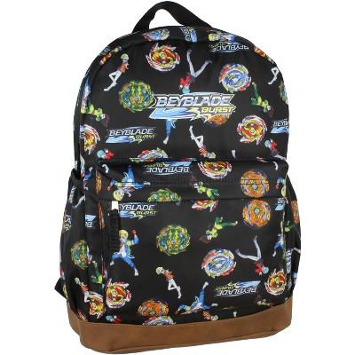 Beyblade Burst Spinner Top Allover Characters Pattern School Book Bag Backpack