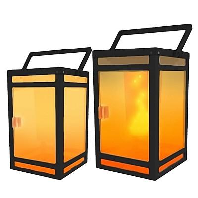 Portable Solar LED Outdoor Lanterns Black - Techko