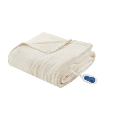 Heated Plush Throw (60 x70 )Ivory - Beautyrest