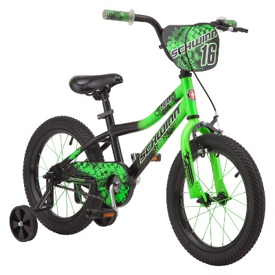 "Schwinn Piston 16"" Kids' Bike - Green"