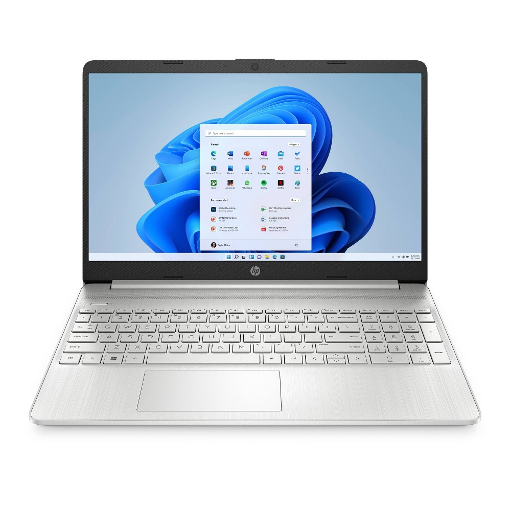 """HP 15.6"""" Touchscreen Laptop with Windows 10 S Mode, 256GB SSD storage, AMD Ryzen 3 processor, Natural Silver (15-ef1041nr)"""