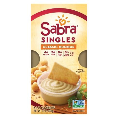 Sabra Classic Hummus Singles - 6ct - image 1 of 4