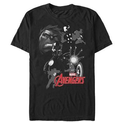 Men's Marvel Avengers Grayscale T-Shirt