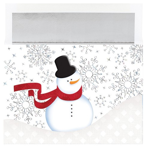 16ct Hortense B. Hewitt Snappy Snowman Good Wishes Boxed Card Set - image 1 of 1