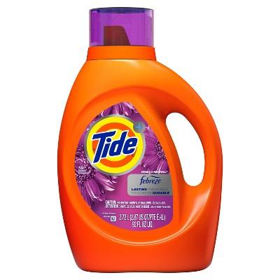 Tide Plus Febreze Spring & Renewal High Efficiency Liquid Laundry Detergent