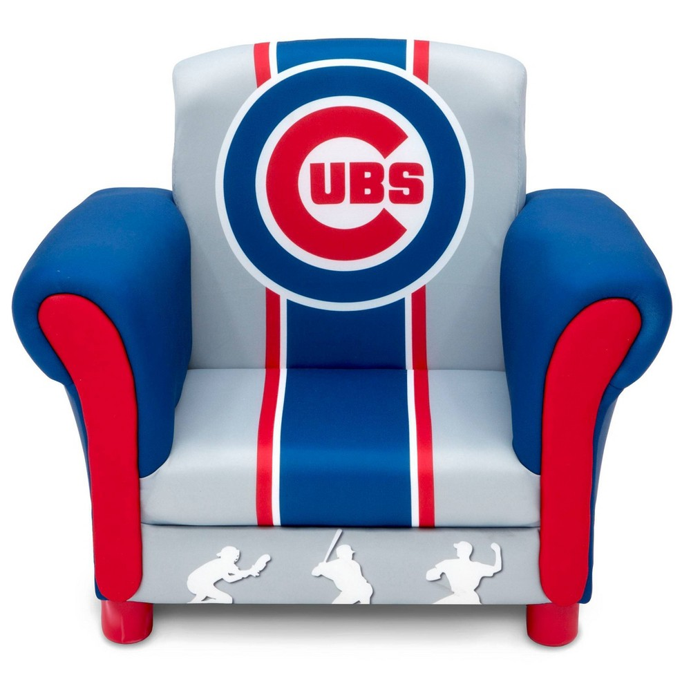 Image of Chicago Cubs Kids Upholstered Chair - Delta Children