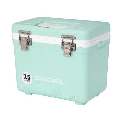 Engel UC7SF 7.5 Quart 8 Can Leak Proof Odor Resistant Insulated Cooler Drybox with Integrated Shoulder Strap, Seafoam