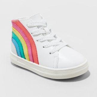 Toddler Girls' Musetta Rainbow Sneakers - Cat & Jack™ White 5