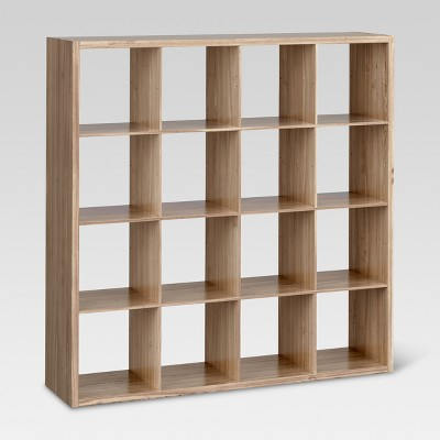 "13"" 16 Cube Organizer Shelf Weathered Gray - Threshold™"