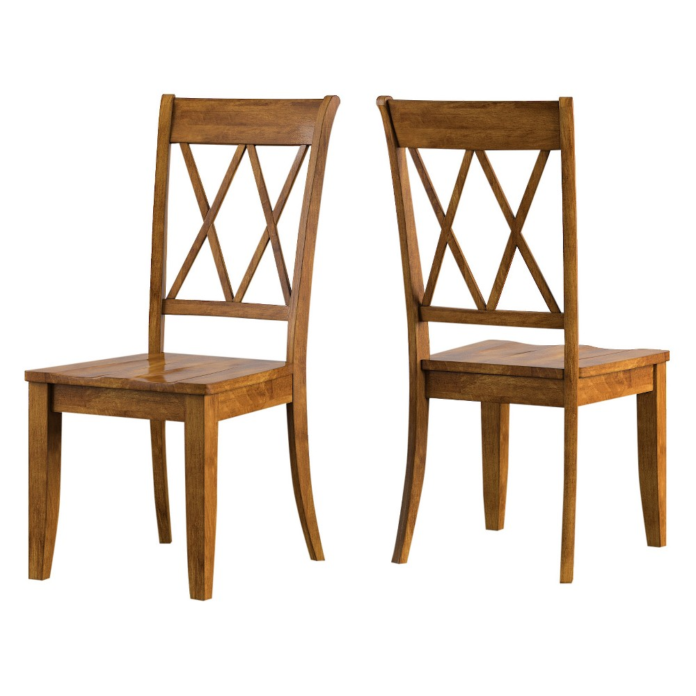 South Hill X Back Dining Chair (Set Of 2) - Oak (Brown) - Inspire Q