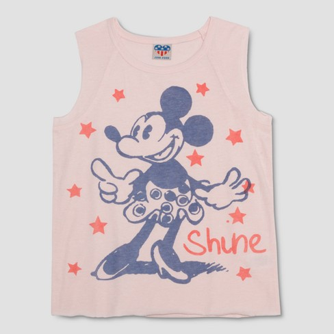 ab237d2aa9323 Junk Food Girls  Disney Mickey Mouse   Friends Minnie Mouse  Shine  Graphic Tank  Top - Light Pink