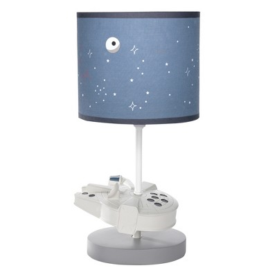 Lambs & Ivy Star Wars Signature Millennium Falcon Lamp with Shade & Bulb