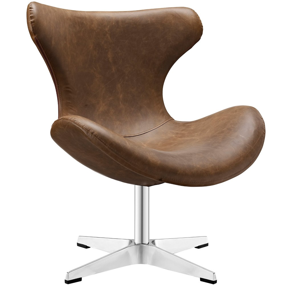 Helm Lounge Chair Brown - Modway