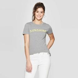 Women's Short Sleeve Sunshine Graphic T-Shirt - Modern Lux (Juniors') - Heather Gray