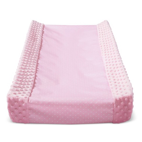 Wipeable Changing Pad Cover with Plush Sides Dots - Cloud Island™ Pink - image 1 of 1