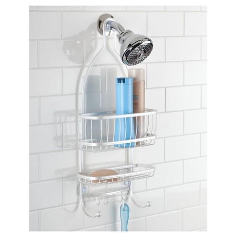 York Lyra Shower Caddy Pearl White - InterDesign : Target