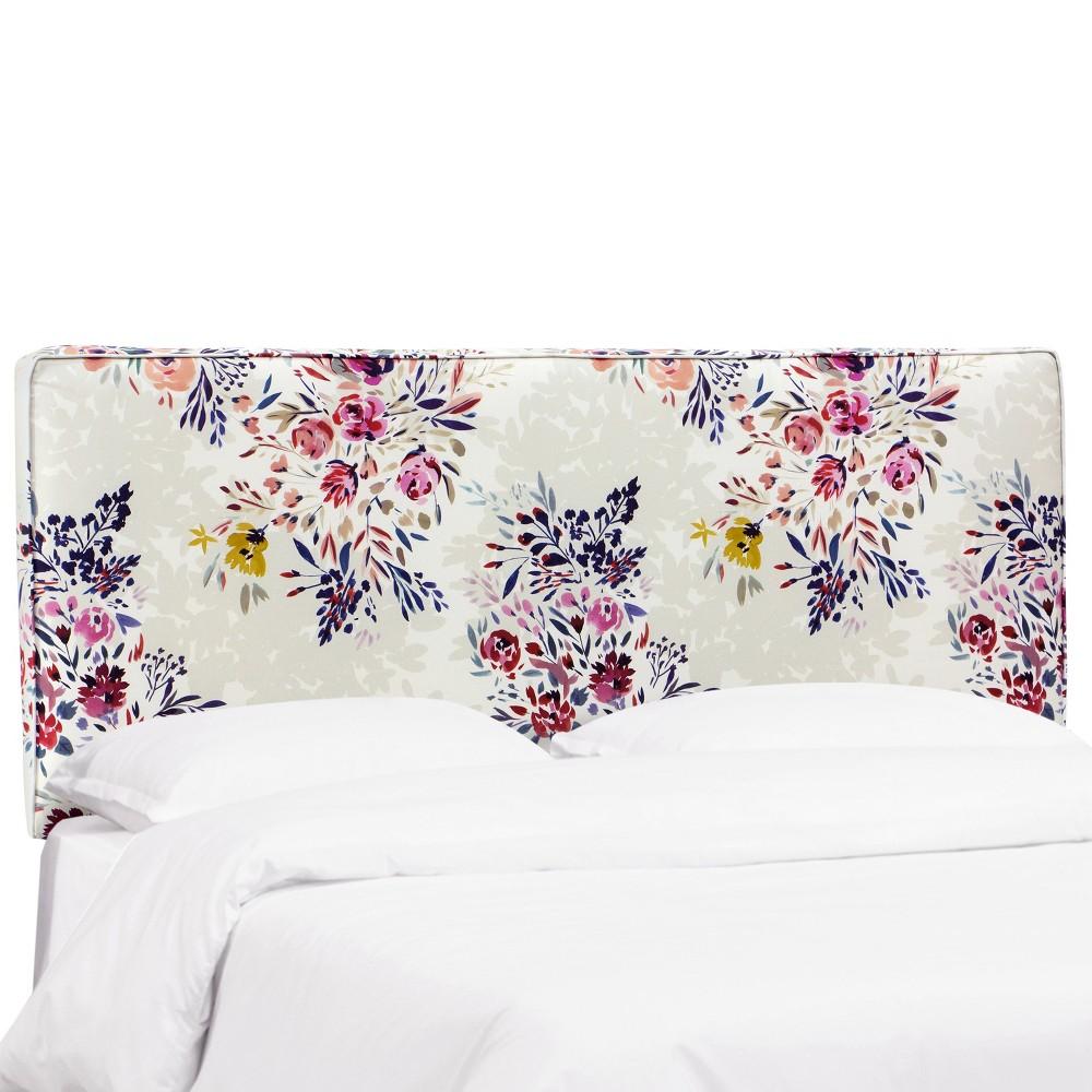King Harper Box Seam Headboard Multi Floral - Cloth & Co.