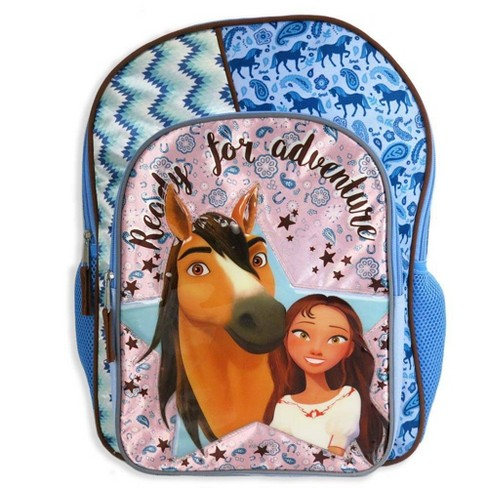 """Spirit Riding Free 16"""" Ready for Adventure Kids' Backpack - Blue - image 1 of 4"""