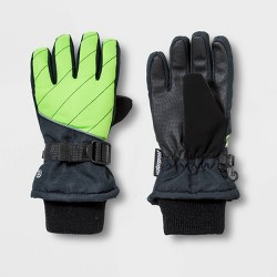 Boys' Promo SKI Gloves with Reflective - C9 Champion® Green/Black