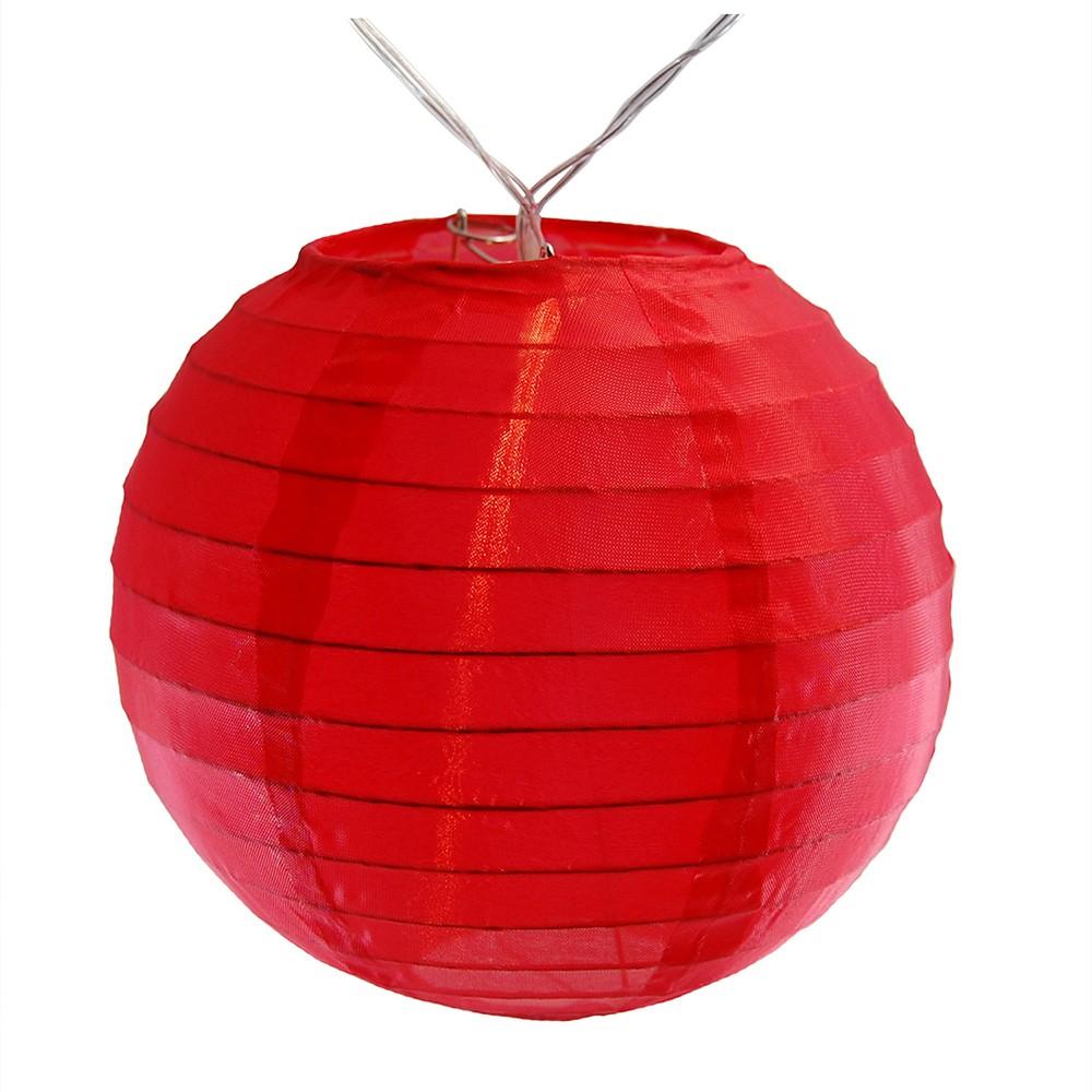 Image of 10ct Lumabase Red Nylon Led Battery Powered String Lights