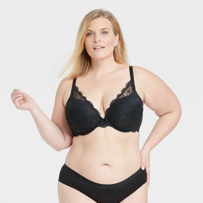 Women's Plus Size Lace Plunge Push-Up Bra - Auden™