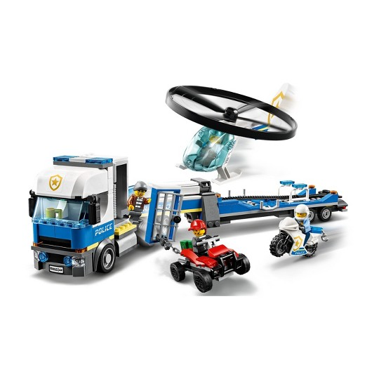 LEGO City Police Helicopter Chase 60244 Building Set for Kids image number null