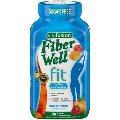 Vitafusion Fiber Well Fit Gummies - Peach, Strawberry & Berry - 90ct
