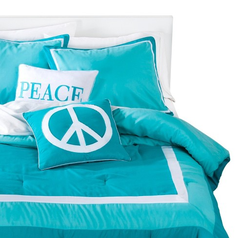 Turquoise Peace Hotel Border Multiple Piece Comforter Set (Twin) - 4-pc - image 1 of 2