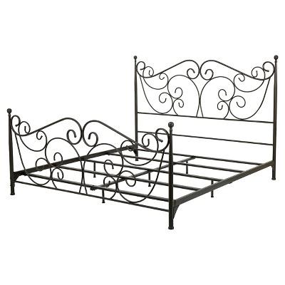Lorelei Metal Bed Frame Dark Bronze - Christopher Knight Home