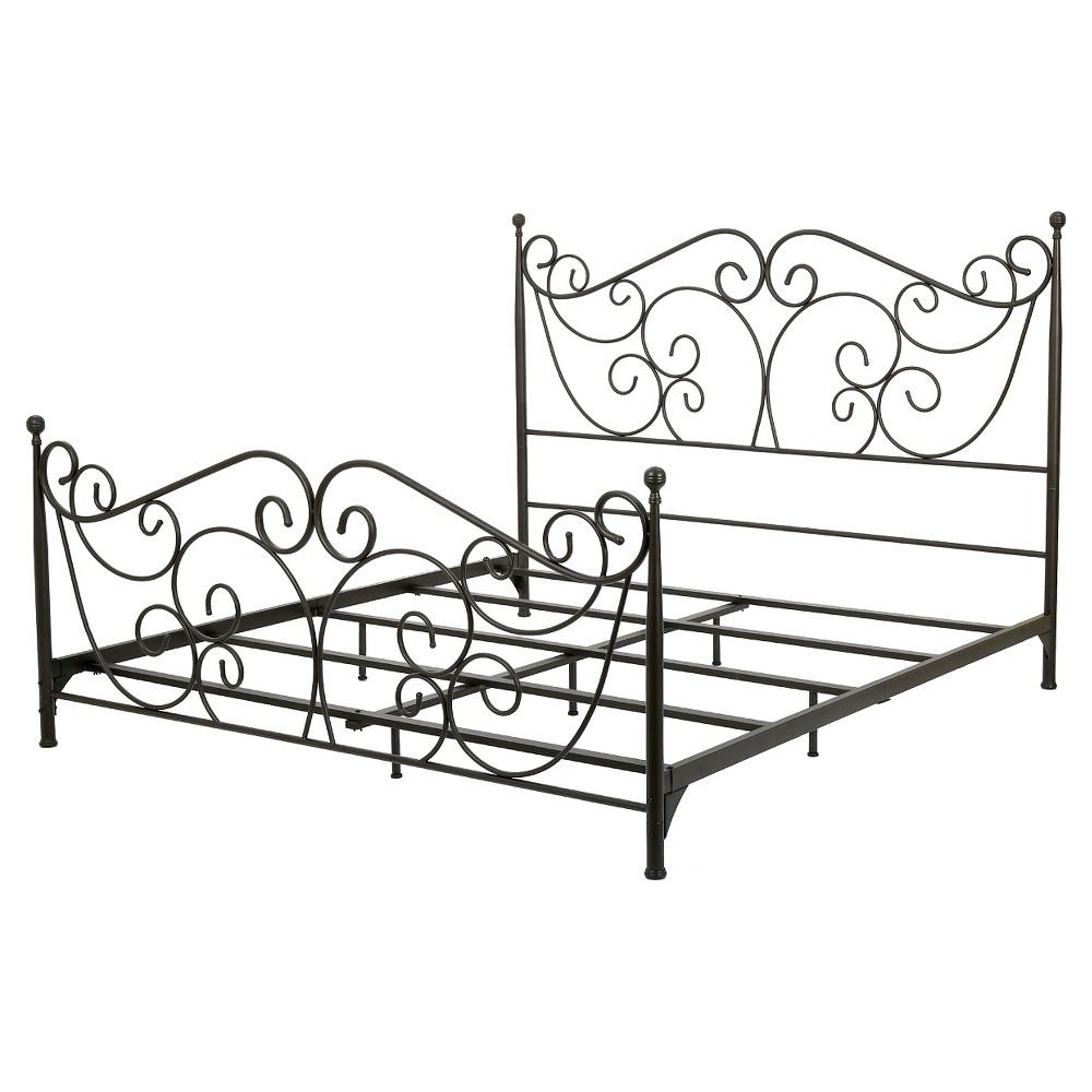 Lorelei Metal Bed Frame King Dark Bronze - Christopher Knight Home