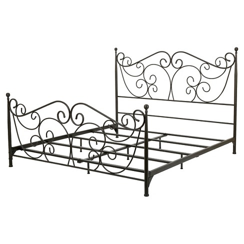 Lorelei Metal Bed Frame Queen Dark Bronze Target