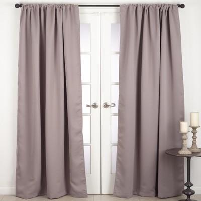 Blackout Dark Taupe Solid Curtain Panels -Saro Lifestyle
