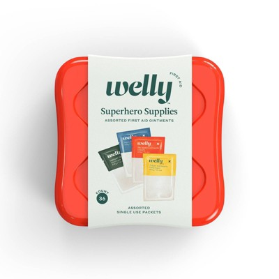 Welly Superhero Supplies Assorted Ointment First Aid Kit - 36ct