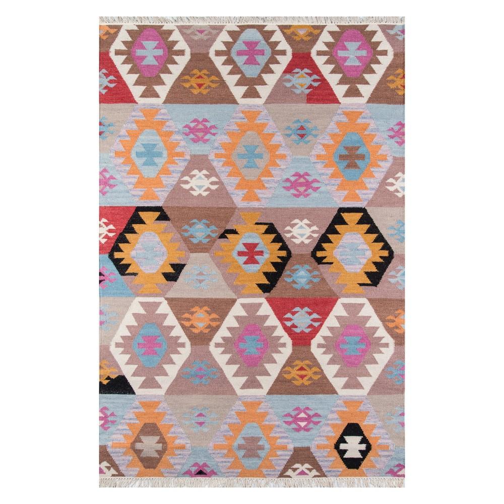 5'X7'6 Geometric Woven Area Rug - Momeni, Multicolored