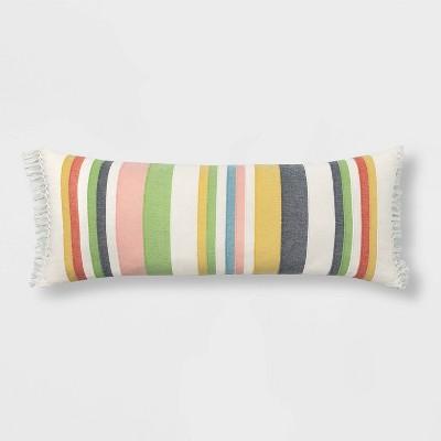 Oversized Oblong Woven Stripe Throw Pillow Multi - Threshold™