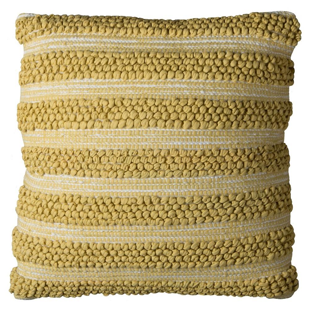 Gold/White Stripes Throw Pillow (20