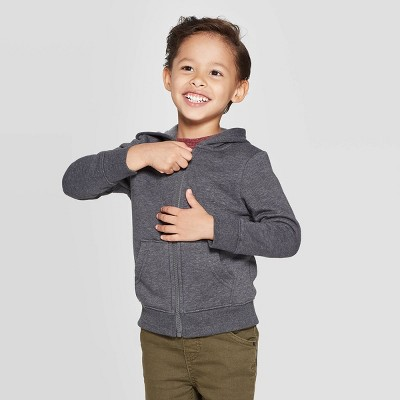 Toddler Boys' Fleece Zip-Up Hoodie Sweatshirt - Cat & Jack™
