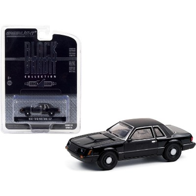 "1982 Ford Mustang SSP ""Black Bandit Police"" ""Black Bandit"" Series 24 1/64 Diecast Model Car by Greenlight"