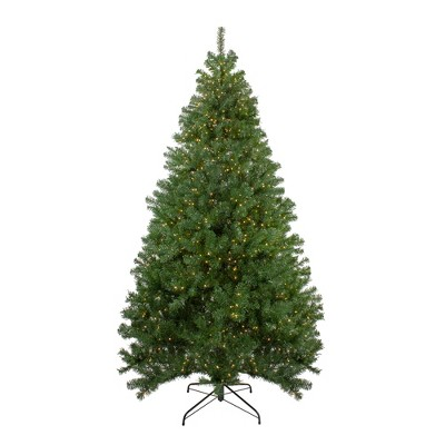 Northlight 7.5' Prelit Artificial Christmas Tree LED Deer River Spruce - Warm White Lights