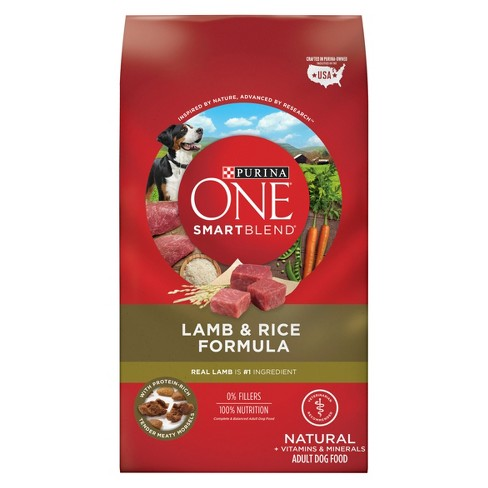 Purina® ONE SmartBlend Lamb & Rice Formula Adult Premium Dry Dog Food - image 1 of 6