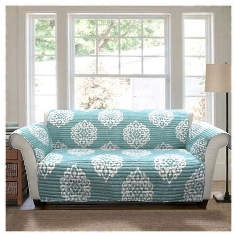 Blue Sophie Furniture Protector Sofa Slipcover - Triangle Home : Target