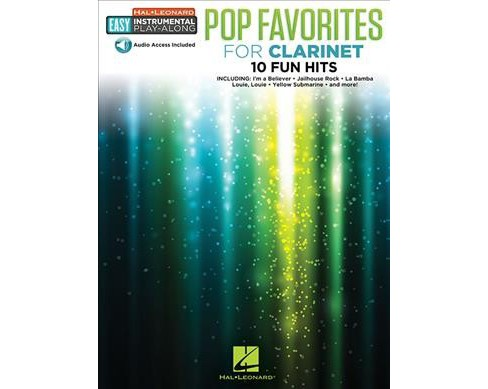 Pop Favorites for Clarinet : Easy Instrumental Play-Along Book -  (Paperback) - image 1 of 1