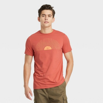 Men's Standard Fit Short Sleeve Crewneck Graphic T-Shirt - Goodfellow & Co™ Red