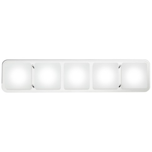 "Possini Euro Design Modern Wall Light LED Chrome Hardwired 25"" Wide 5-Light Fixture Clear Frosted Glass for Bathroom Vanity - image 1 of 4"