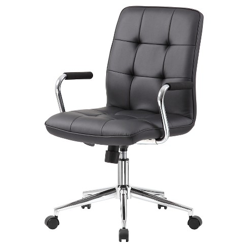 Brilliant Modern Office Chair With Chrome Arms Black Boss Office Products Ocoug Best Dining Table And Chair Ideas Images Ocougorg